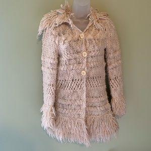 Free People Fringe Wool Blend Sweater, Size XS